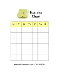 Exercise Chore Chart