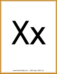 Flash Card Letter X