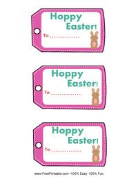 Hoppy Easter Gift Tag