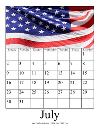 July 2017 Photo Calendar
