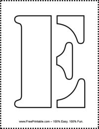 Letter E Stencil