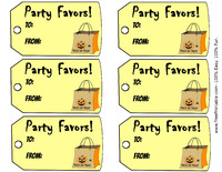 Halloween Party Favor Gift Tag
