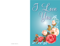 Flowers Love Card