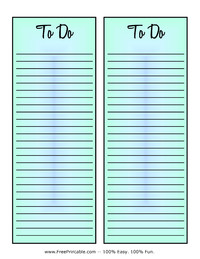 To Do List Blue
