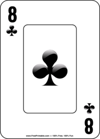 Eight of Clubs Playing Card