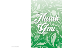 Greenery Thank You Card