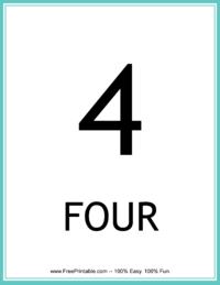 Flash Card Number 4