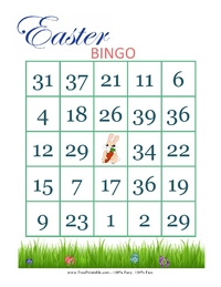 Easter Bingo Card 2