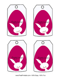 Cute Purple Easter Gift Tag