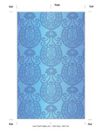 Blue Horseshoe Bookmark