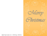 Gold Poinsettia Christmas Card
