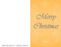 Gold Poinsettia Christmas Card