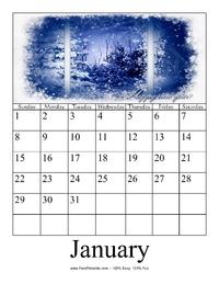 January 2017 Photo Calendar