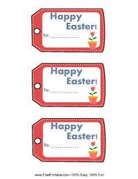 Easter Flower Gift Tag