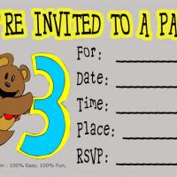 Printable 3rd Birthday Party Invitation - Printable Birthday Invitation Cards - Free Printable Invitations