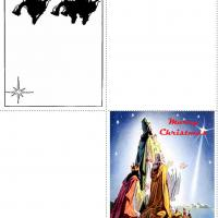 Printable 4 Fold Three Kings Card - Printable Christmas Cards - Free Printable Cards