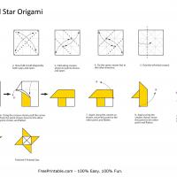 Printable 4-Pointed Star Origami - Paper Crafts - Free Printable Crafts
