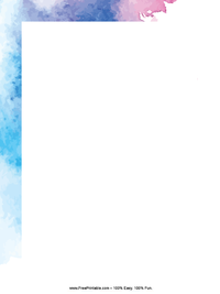 Water Color Letterhead
