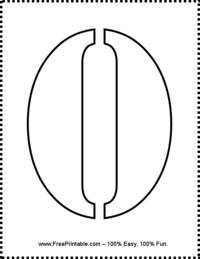 Number 0 Stencil