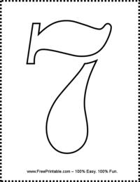 Number 7 Stencil