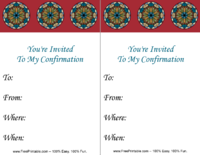 Stained Glass Confirmation Invitation