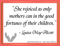 Alcott Mothers Quotation