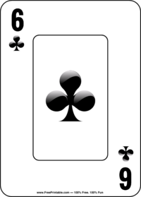 Six of Clubs Playing Card