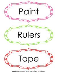 Classroom Labels Paint