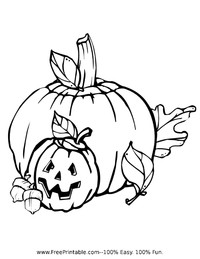 Pumpkin Patch Coloring Page