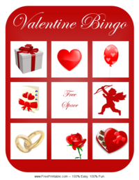 Valentine's Day Bingo Card 4