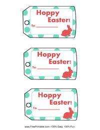 Polka Dot Easter Gift Tag