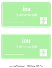 IOU Christmas
