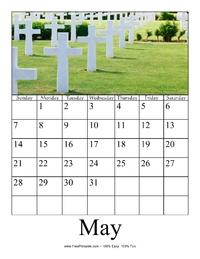 May 2017 Photo Calendar