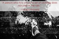 Yoruba Rain Proverb