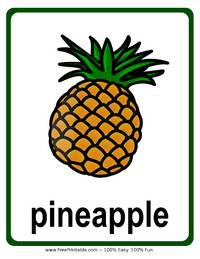 Pineapple Flash Card