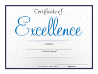 Excellence Certificate