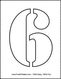 Number 6 Stencil
