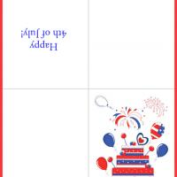 Printable 4th of July Cake - Printable Greeting Cards - Free Printable Cards