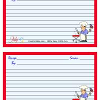 Printable 4th of July Recipe Card - Printable Stationary - Free Printable Activities