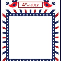 Printable 4th of July Stationary - Printable Stationary - Free Printable Activities