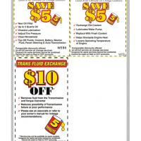5 Minute Oil Change Coupons