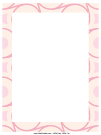 Pink Scrapbook Letterhead