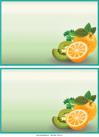 Citrus Recipe Cards