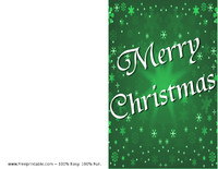 Green Snow Christmas Card