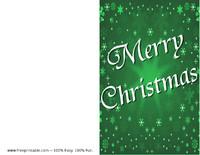 Green Snow Christmas Card
