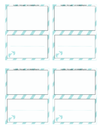 Boy Baby Shower Place Card