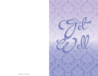 Purple Get Well Card