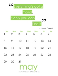 May 2017 Quote Calendar