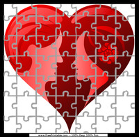 Hearts Couple Puzzle