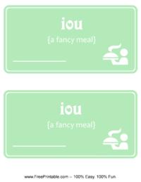 IOU Dinner